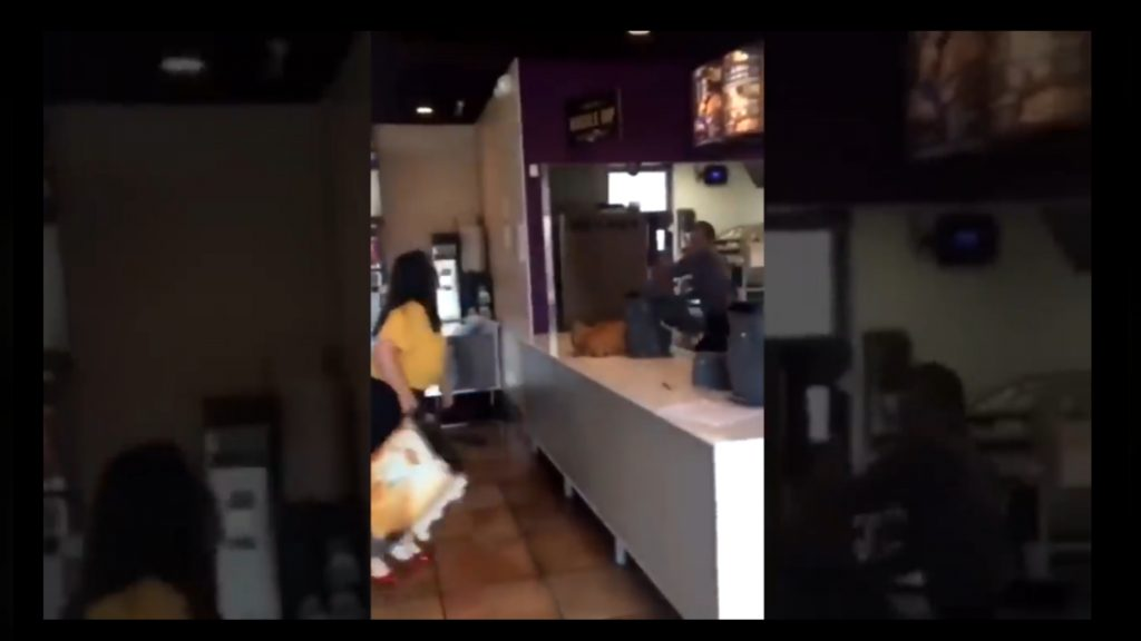 Woman Goes Wild In Fast Food Restaurant